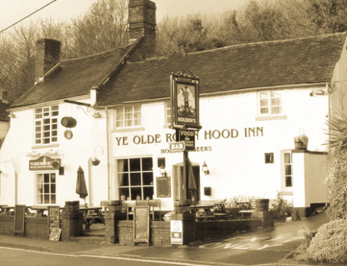 Riverside Pubs of Ironbridge Sepia Panoramics