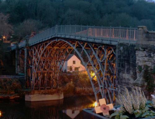 Ironbridge Panoramic – at Night with Christmas Lights